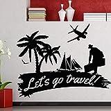 Tianpengyuanshuai Etiqueta de la Pared del Viaje Viaje Viaje Viaje Turismo Calcomanía de Vinilo de Viaje Inicio Impermeable 42X53cm