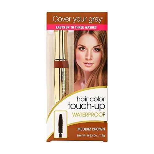 Cover Your Gray Wasserdichter Nachbessern Haar Farbe, Dunkelbraun, 15 g
