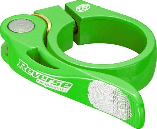 Reverse Long Life Sattelklemme mit Schnellspanner 34.9mm neon grün