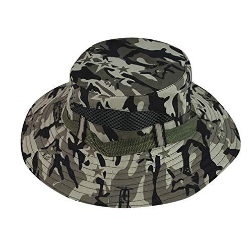 XIAOPANG Cubo Sombreros Al Aire Libre Selva Camuflaje Bob Camo Bonnie Sombrero Pesca Camping Barbacoa Montaña Escalada Sombrero