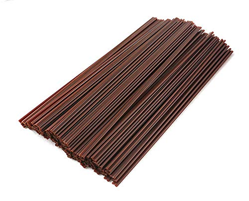 500Pcs(5.5IN and 7IN) Coffee Stir Sticks,Cocktail Straws,Straw Dual Purpose, B Double Hole Straw, Coffee, Restaurant, Drink Straw Brown