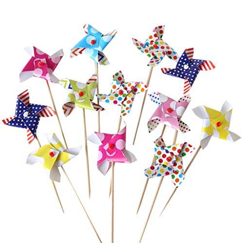 Tengman Papier Windmühle Kuchen Backen Dessert Tisch ation Kinderspielzeug Party Bag Füllstoffe