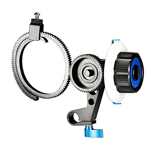 Neewer Follow Focus with Single 15mm Rod Clamp,Adjustbale Gear Ring Belt for DSLR Cameras/DV/Camcorder/Film/Video Cameras,Fits Shoulder Supports,Stabilizers,Movie rigs