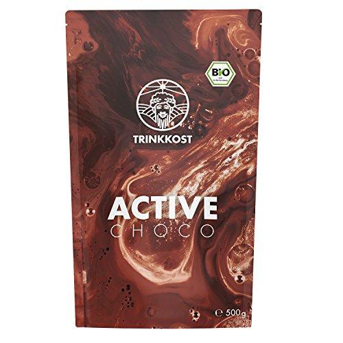 TRINKKOST ACTIVE I Eiweiß Protein Shake zum Muskeln aufbauen I Kalorienarm & Bio I 13 Vitaminen, 13 Mineralien und über 20 natürlichen Zutaten + Superfoods I 500g Beutel