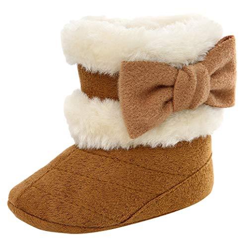 Demu sneeuwlaarzen voor kinderen, met warmte gevoerd, voor meisjes, winterschoenen, baby, antislip laarzen Innelänge 13cm kaki