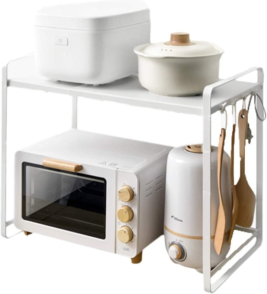 Very popular! Gifts BINGFANG-W Kitchen Shelf Telescopic Microwave Rack