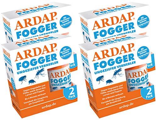 Quiko Ardap Fogger Ungeziefer Vernebler für 8 Räume bis 240 m², 8 x 100ml