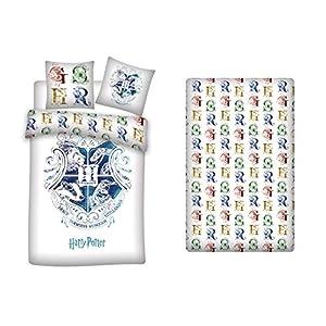 AYMAX S.P.R.L. Harry Potter - Juego de funda nórdica de 140 x 200 cm + funda de almohada + sábana bajera de 90 x 190 cm… 4