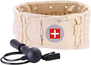 Back Decompression Belt Lumbar Support for Back Pain Relief- Lower Back Traction Device..