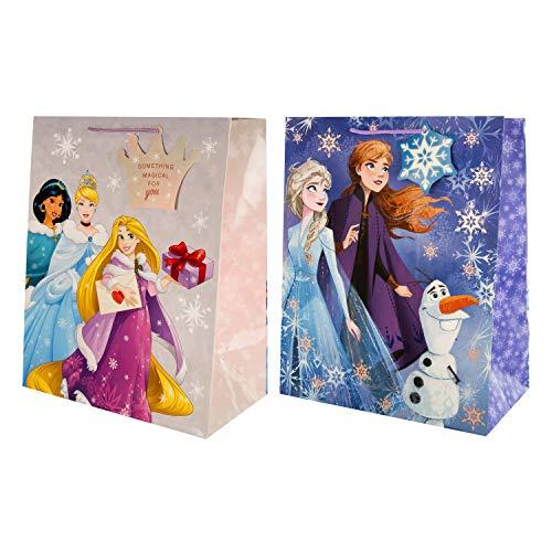 Paquete de bolsa de regalo de Navidad de Hallmark, diseño de princesa Disney y Frozen II