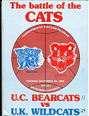 12/20 1983 Kentucky vs Cincinnati Basketball Program bk10