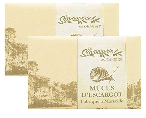 PACK 2 X 125 Grammes - Savon a la bave descargot MUCUS DESCARGOT enrichie au beurre de karité BIO