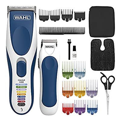 Wahl Hair Clippers for Men, Colour Pro Cordless Combi Kit Head Shaver Men's Hair Clippers with Beard Trimmer Men and Colour Coded Clipper Guides