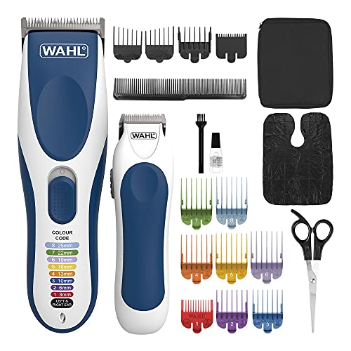 Wahl Hair Clippers for Men, Colour Pro Cordless Combi Kit, Head Shaver, Men's Hair Clippers with Beard Trimmer, Men Clipper and Trimmer, Colour Coded Clipper Guides, Grooming Kit