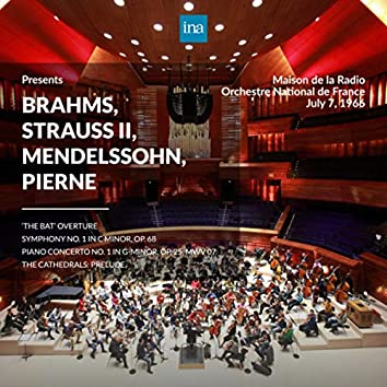 INA Presents: Brahms, Strauss II, Mendelssohn, Pierne by Orchestre National de France at the Maison de la Radio (Recorded 7th July 1966)