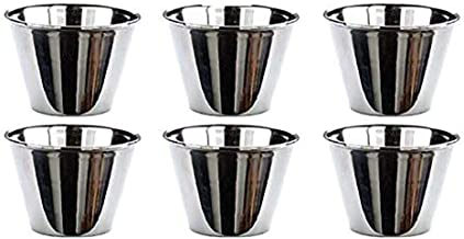 EUROXANTY®   Set de 6   Flaneras Individuales Acero Inoxidable   Postres   Reposteria   Ø7 cm   Molde Flanera