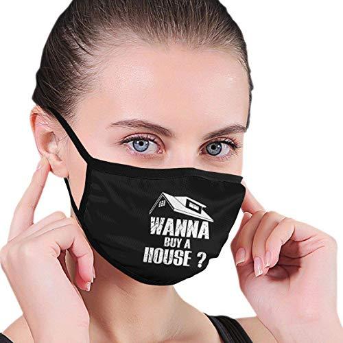 Wilt je een huis kopen mannen vrouwen kinderen tiener grafieken S-moke allergieën wasbare herbruikbare gezichtsbehandeling - afdekking voor wandelen