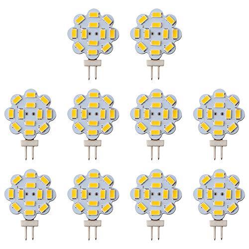 GLL 10pcs G4 LED Birne Warmes Weiß 2W 5730 12SMD LED G4 Bi-Pin LED Helle Lampe 240 Lumen Nicht Dimmbares 12V DC 2700K für Hauptlandschaft