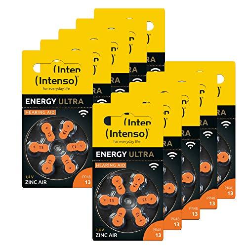 60x Intenso Energy Ultra Hörgeräte Batterie PR48 orange - Typ 13, 10x 6er Blister, 7504426MP