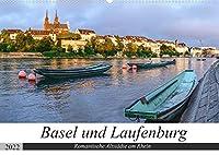 Basel und Laufenburg - Romantische Altstaedte am Rhein (Wandkalender 2022 DIN A2 quer): Stadtansichten von Basel und Laufenburg (Monatskalender, 14 Seiten )