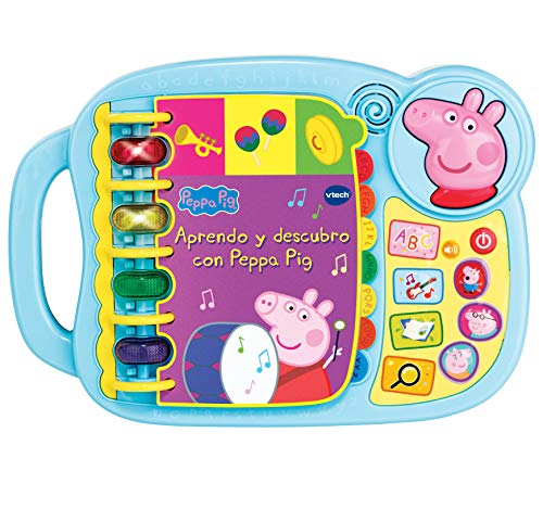 VTECH- Aprendo y Descubro con Peppa Pig Libro Infantil Que Enseña El Abecedario y Nuevas Palas, Multicolor, Talla Única (3480-518022) , color modelo surtido