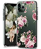 BSLVWG Clear Case For iPhone 11 Pro Max,flower Floral