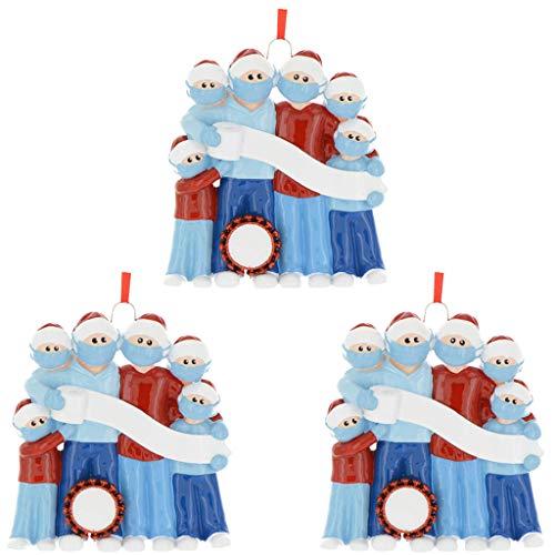 OVERMALL Weihnachtsschmuck,Weihnachtsbaum Hängen Anhänger,2020 Personalisierte Familie Weihnachten Ornament Kit DIY Kreatives Geschenk Für Weihnachten Dekorationen Anhänger