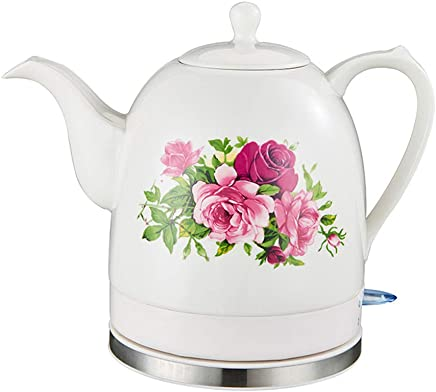 1.7 Liter ChefsChoice 679 Cordless Electric Glass Kettle with Soft-Touch Handle Auto Shut-Off and Boil-Dry Protection Silver