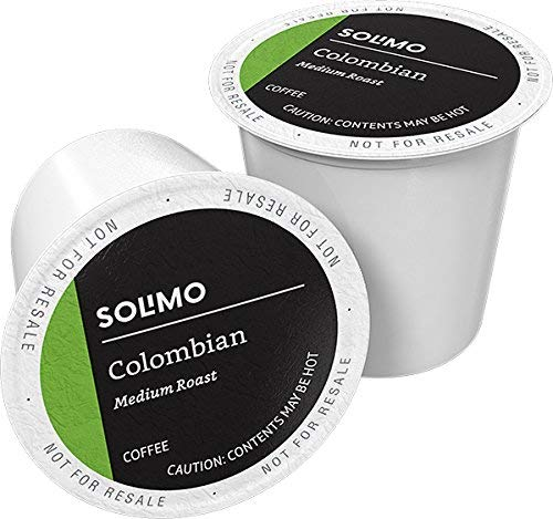 Amazon Brand - 100 Ct. Solimo Medium Roast Coffee Pods, Colombian, Compatible with Keurig 2.0 K-Cup Brewers