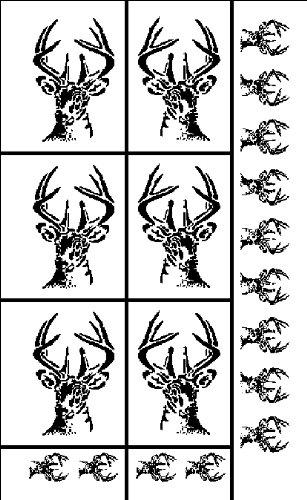 Armour Products Rub 'N' Etch Pochoir pour Designer 12,7 x 20,3 cm, tête de cerf, Feuille Totale : 12,7 x 20,3 cm