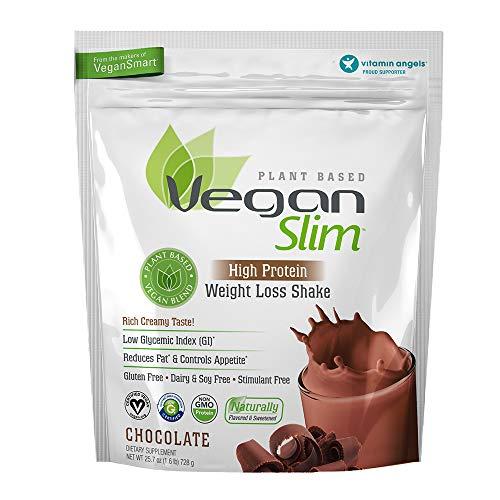 Naturade Veganslim Plant Based Vegan High Protein Weight Loss Shake – Chocolate - 25.7 oz