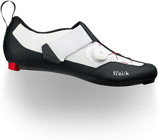 Fizik Men's Transiro Infinito R3 Triathlon Cycling Shoes - Black/White (Black/White - 44.5)