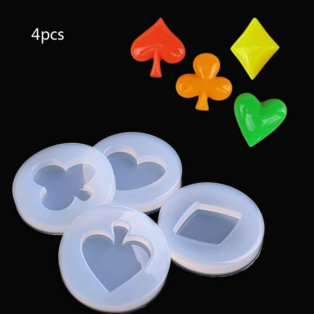 WYD 3D Playing New Shipping Free Max 67% OFF Cards Red Peach C 4PCS Square Spades Plum Pendant