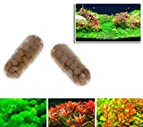 Xuniu 40 Pezzi radice acquatica vegetale radice Fertilizzante Acquario Serbatoio di Pesce Serbatoio cilindrico