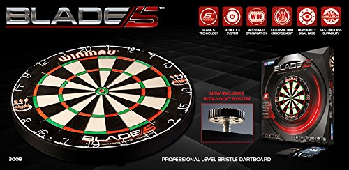 Winmau Steeldartboard Blade 5 inkl Checkout-Karte & 6 Empire Flights & 6 Empire Shafts Gratis!