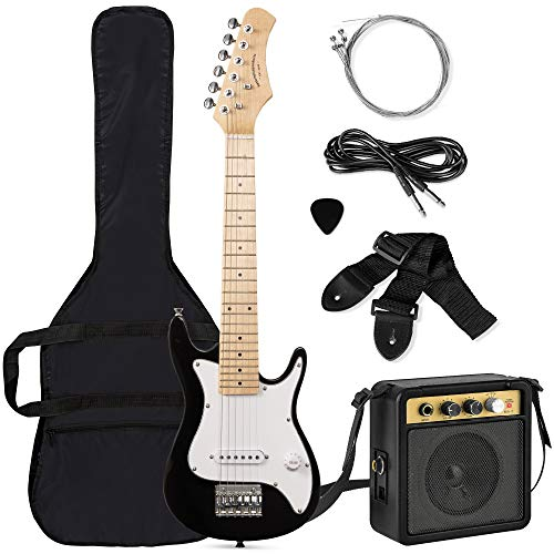 Best Choice Products 30in Kids Electric Guitar Beginner Starter Kit with 5W Amplifier, Strap, Case, Strings, Picks - Black