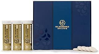 Sparasis Crispa Powder Beta Glucan NK. INCREDIBLE Effervescent Tablet 4,100mg Vitamin C Zinc Green Grapes Flavored 30 Tablets, 123g