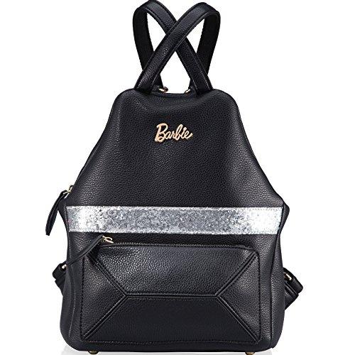 Barbie Sac à Dos Irrégulier de la série de Mode Simple Loisir en Vogue style Fashion Individualité Femmes/Filles en PU Cuir noir # BBBP075.01A