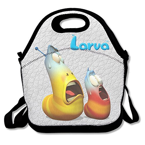 Reusable Larva Cartoon HD Crossbody Pretty Lunch Bags