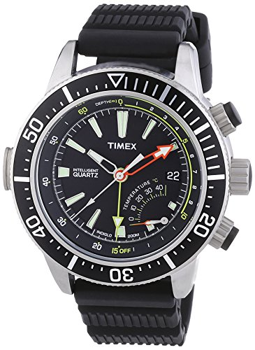 Timex Intelligent Quartz T2N810 Mens Indiglo Depth Gauge Thermometer Watch
