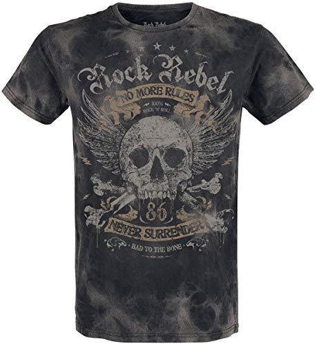 Rock Rebel by EMP Rebel Soul Hombre Camiseta Gris Oscuro S, 100% algod