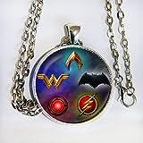 Justice League 2017 movie inspired - Batman, WW, Cyborg, Flash, Aquaman - pendant necklace - HM