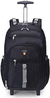 KTYXDE Travel Bag Backpack Shoulder Bag Men and Women School Bag Computer Bag Travel Business Boarding Large Capacity Trolley Bag Trolley Backpack (Color : Black, Size : 58x24x37cm)