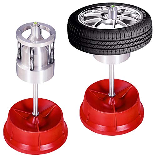 Goplus Pro Portable Hubs Wheel Balancer W/Bubble Level Heavy Duty Rim Tire Cars Truck