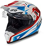 801000710271var-a2 - Casco Enduro Offroad Motocross Aries Color Blanco/Rojo/Azul Talla L