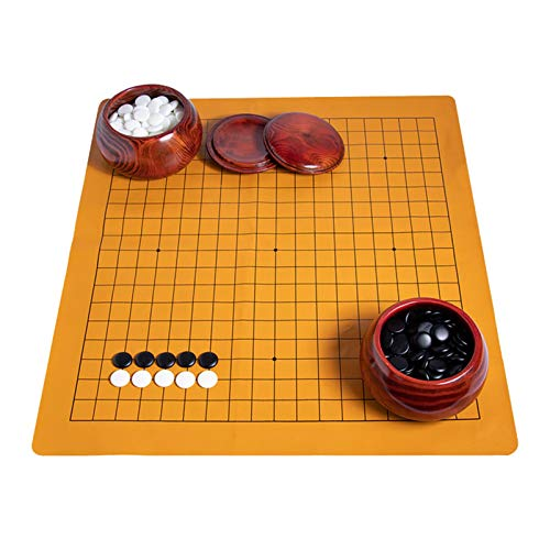 CGF- Board Games Magnetic Travel Go Board Go Game Board Set Portable Folding go Boards and Stones We Games Go Board with Bowls for Game of Go, Pente, Gomoku, Gobang 361 Stones