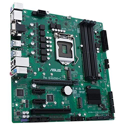 ASUS Pro B460M-C/CSM Professional Intel B460 (LGA 1200) Mikro-ATX Mainboard mit mehr Sicherheit, Zuverlässigkeit und Verwaltbarkeit, ASUS Control Center Express (ACCE)