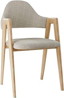RXBFD chair Sofá de Hierro Simple sillón Silla de Comedor con Respaldo de Lino tapizado de algodón y cómodo Silla de ca...