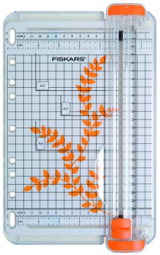 Fiskars Portable Surecut Paper Trimmer 22 cm - A5, With Cutting Line Guide,...
