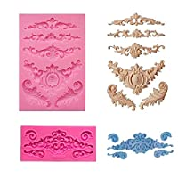 【Za-Bi (ザ-ビ) 】 彫刻 デザイン シリコンモールド 2型 8種 11個/ 手作り 石鹸 キャンドル 粘土 / レジン 型 抜き型 / ハンドメイド 制作 /彫刻2型